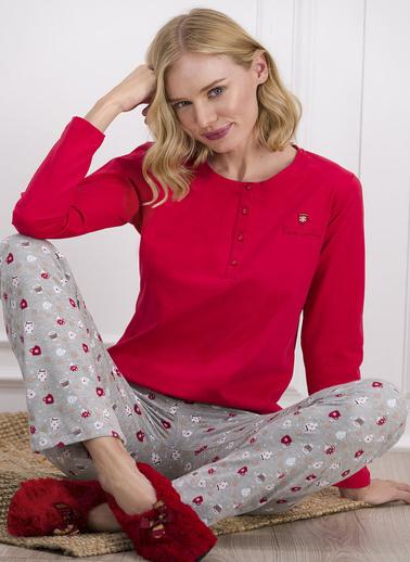 Pierre Cardin Pijama Takım Kırmızı